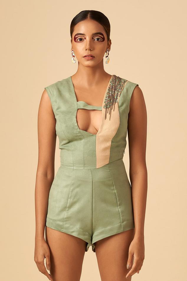 Colorblock Bodysuit