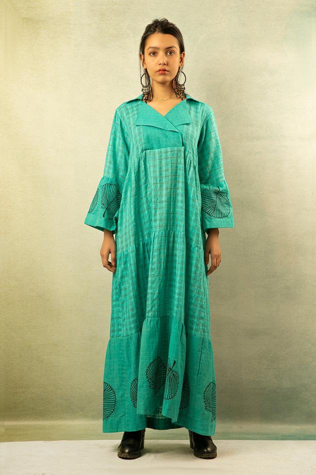 Handwoven Printed Maxi Dress