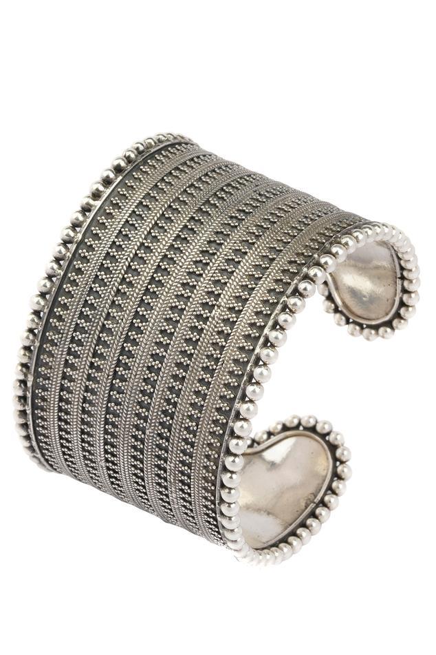 Handcrafted Oxidized Rawa Cuff Bangle