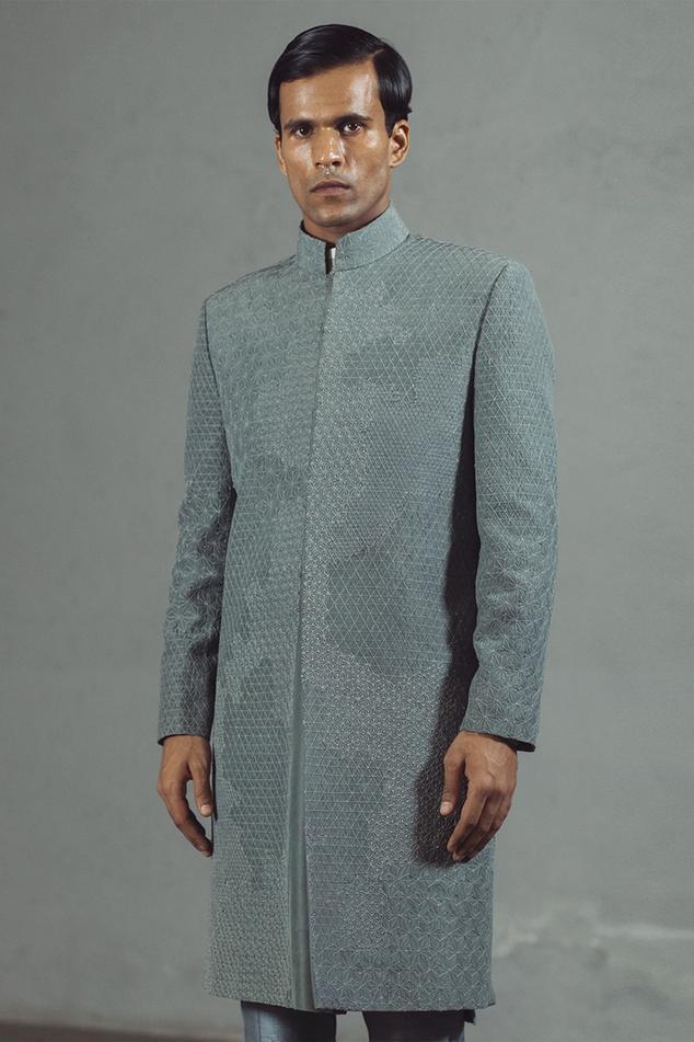 Silk Embroidered Sherwani