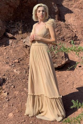 Flared Pleated Gown