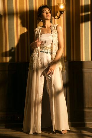 Embroidered Jumpsuit with Jacket