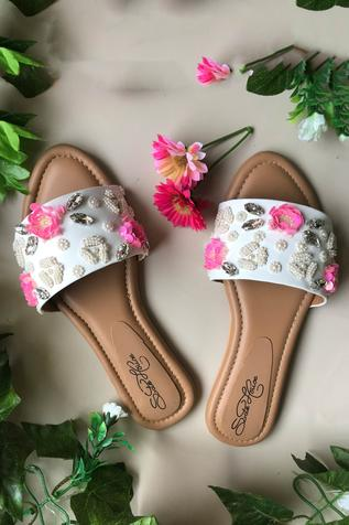 Floral Crystal Sliders