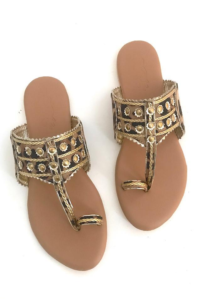 Suede Leopard Print Sandals