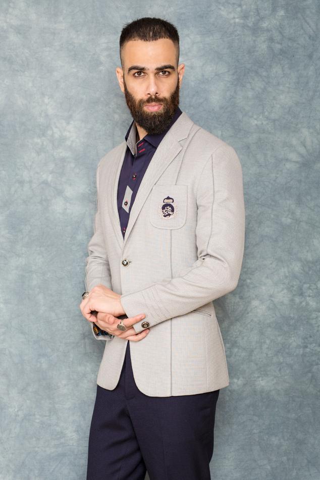 Textured Blazer & Pant Set