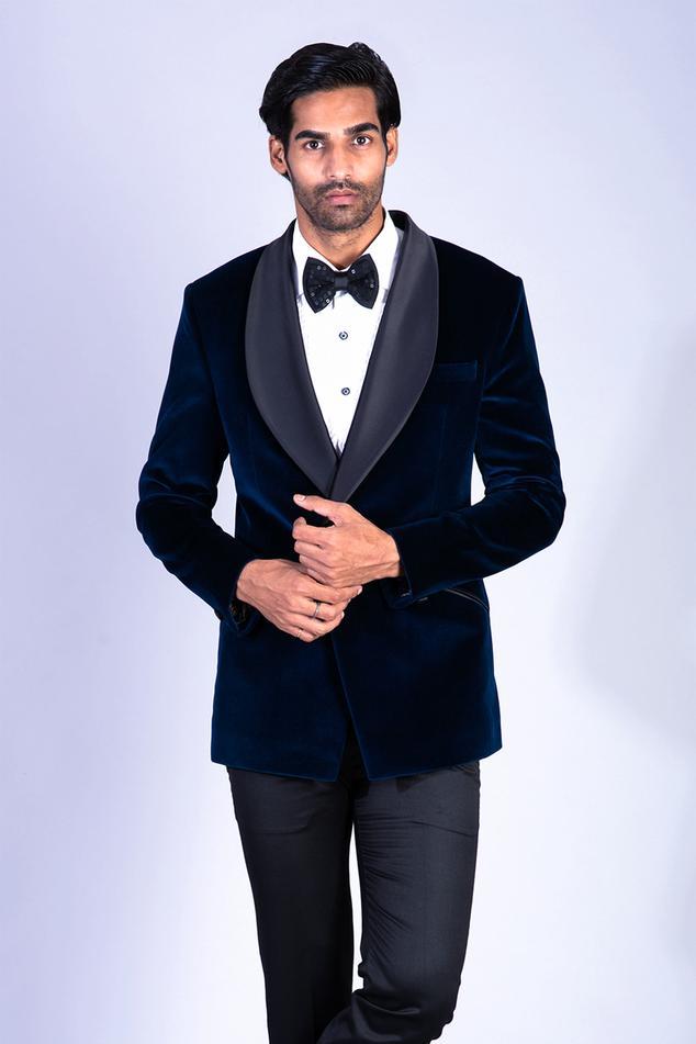 Cotton Velvet Tuxedo & Pant Set