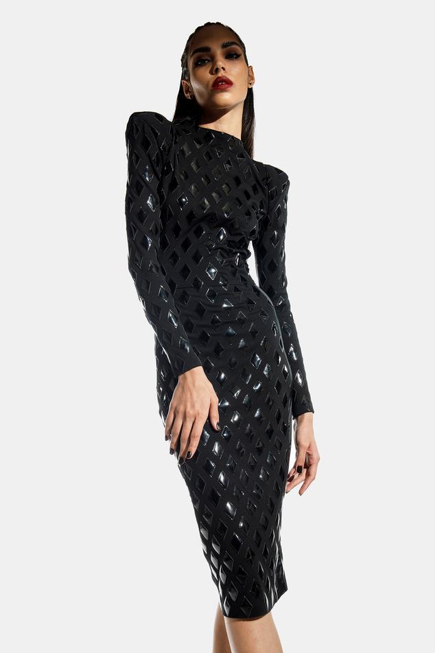 Applique Bodycon Dress