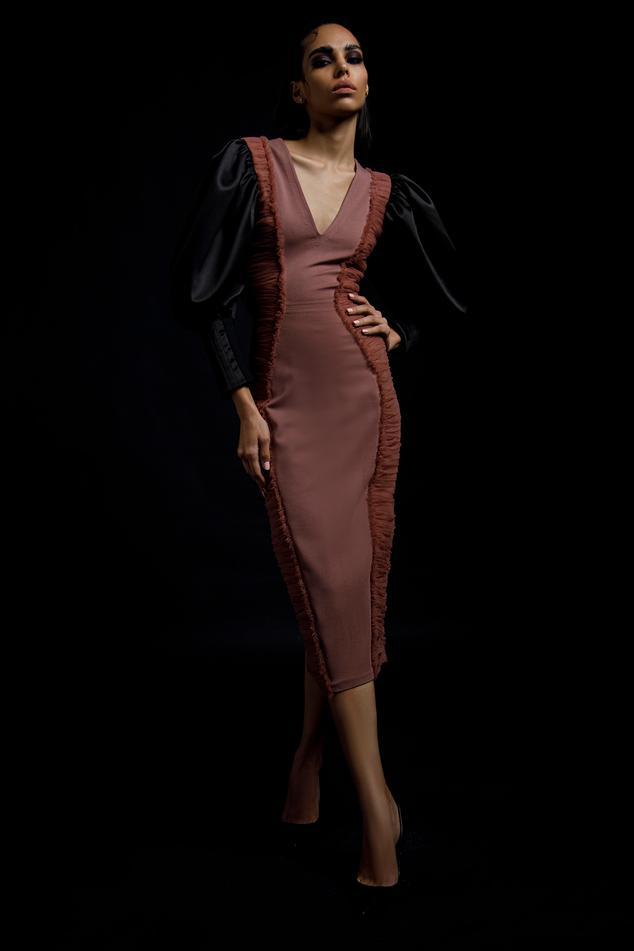 Bishop Sleeve Bodycon Dress