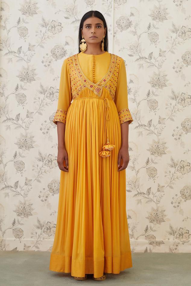 Embroidered Angrakha & Pant Set