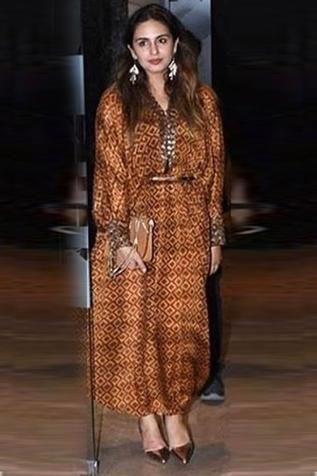 Printed Maxi Dress with Belt