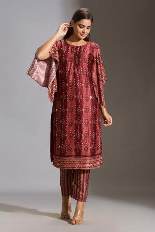 Silk Embroidered Kurta & Pant Set