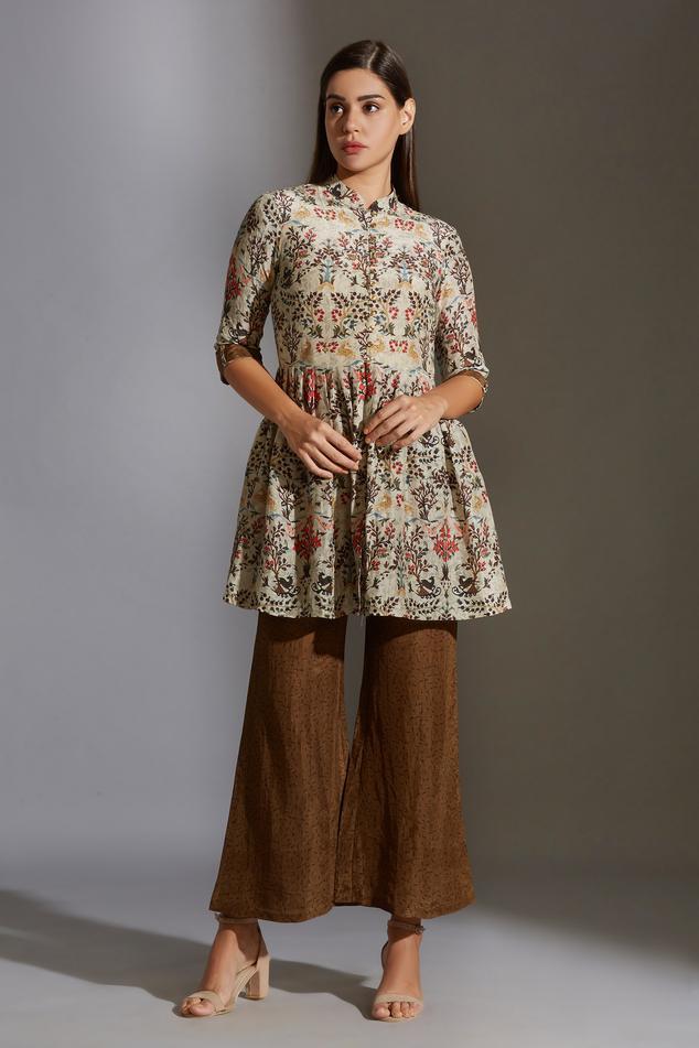 Linen Printed Tunic & Pant Set