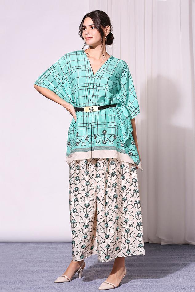 Printed Kaftan Tunic & Palazzo Set