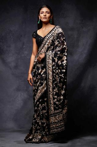 Embroidered Saree with Blouse
