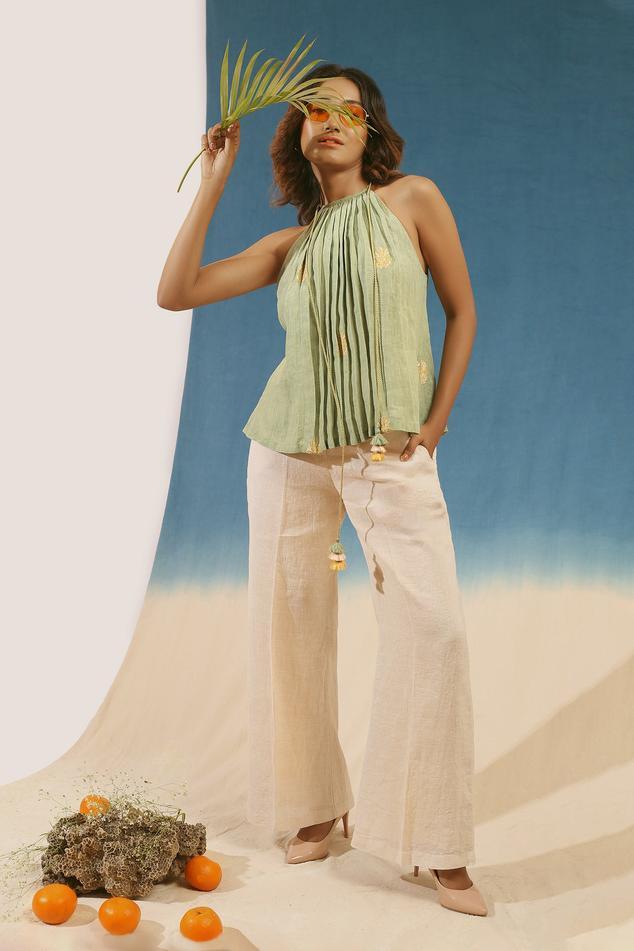 Linen Top & Pant Set