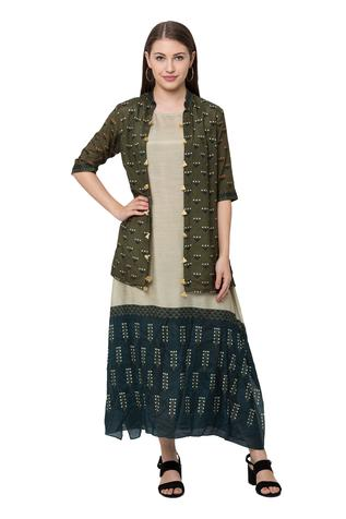 Printed Tunic with Jacket