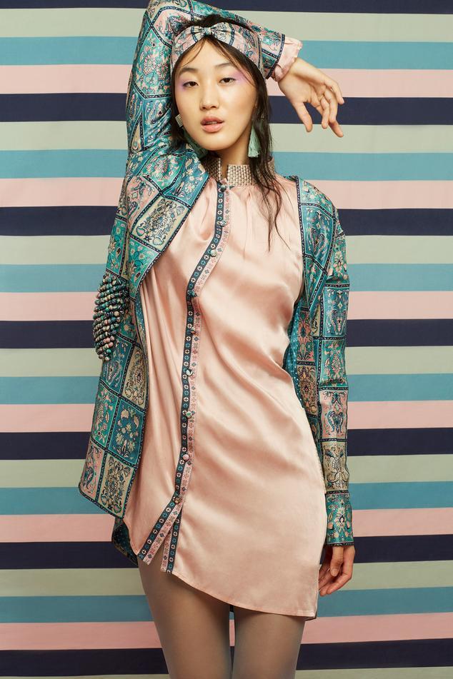 Printed Dress & Jacket Set