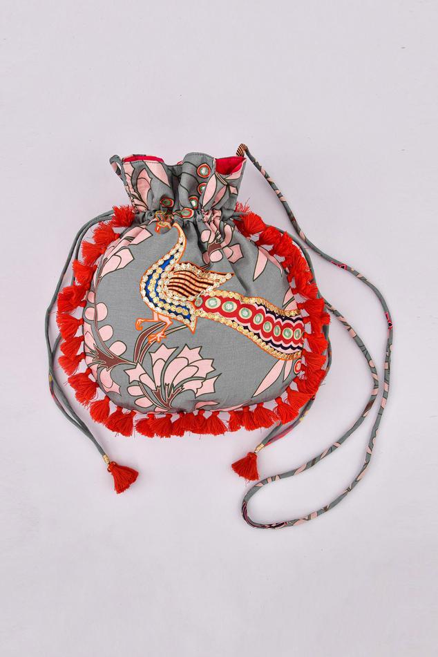 Linen Silk Handcrafted Potli Bag