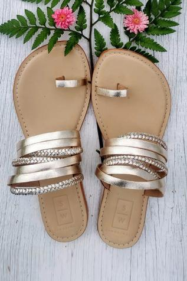 Braided Multi Strap Sandals