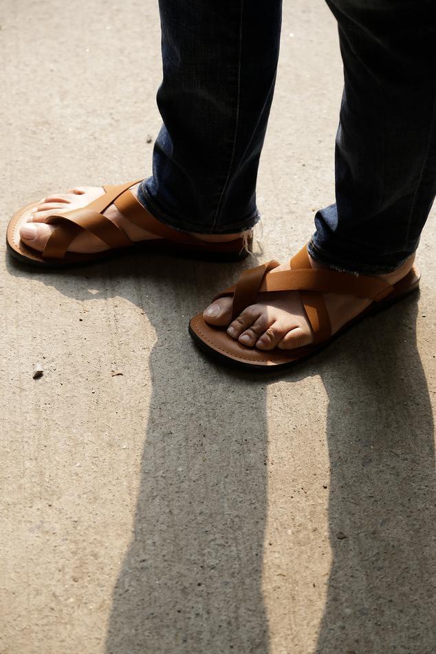 Handmade Dino Toe-Loop Sandals