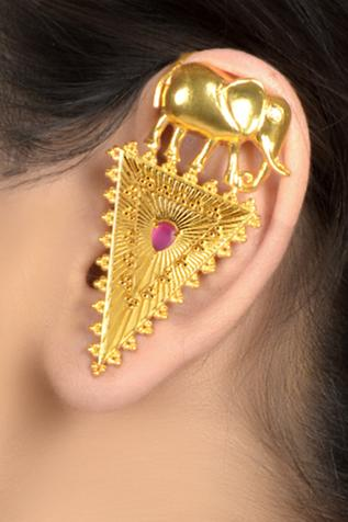 Stone Geometric Ear Cuffs