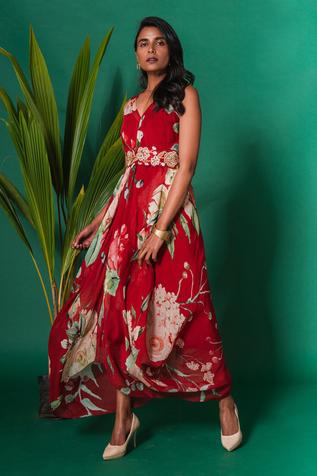 Silk Printed Gown