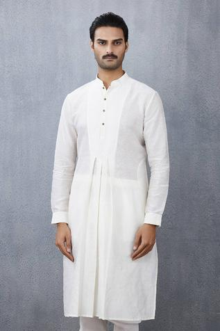 Handwoven Chanderi Pleated Kurta