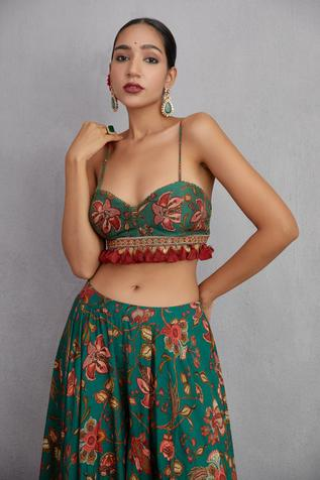 Sheesham Mehreen Crop Top & Sharara Set
