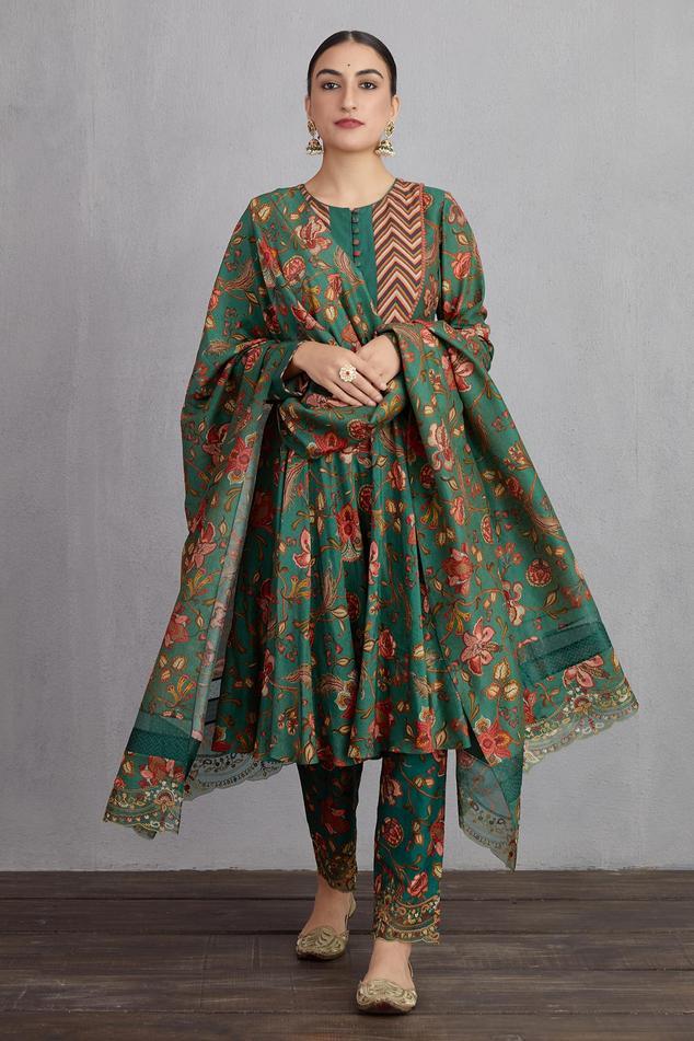 Sheesham Saba Anarkali Set