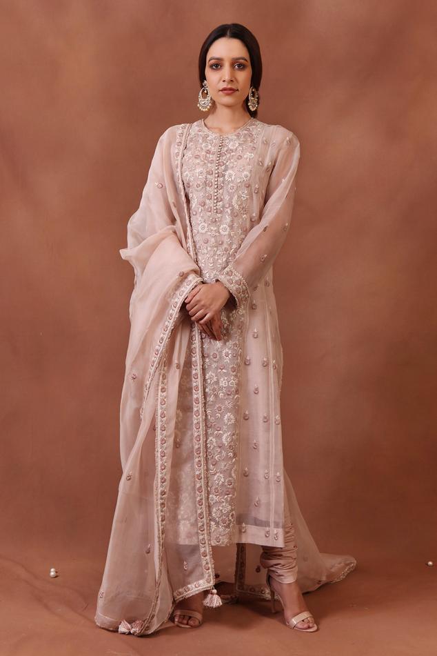 Handwoven Katan Silk Kurta Set