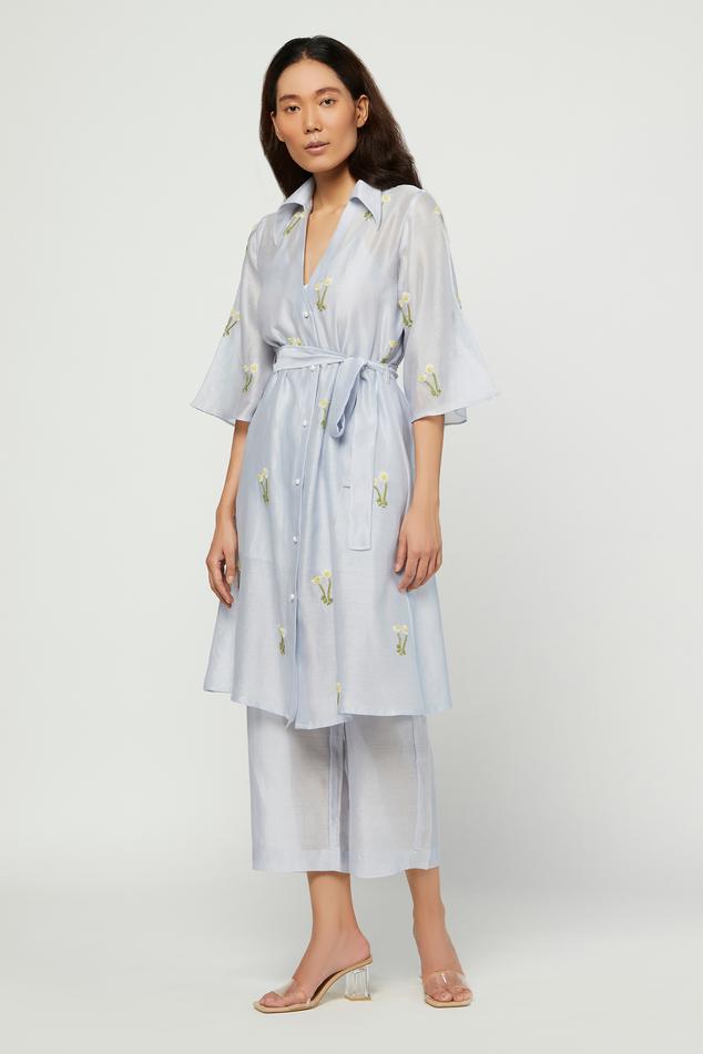 Silk Chanderi Tunic & Pant Set