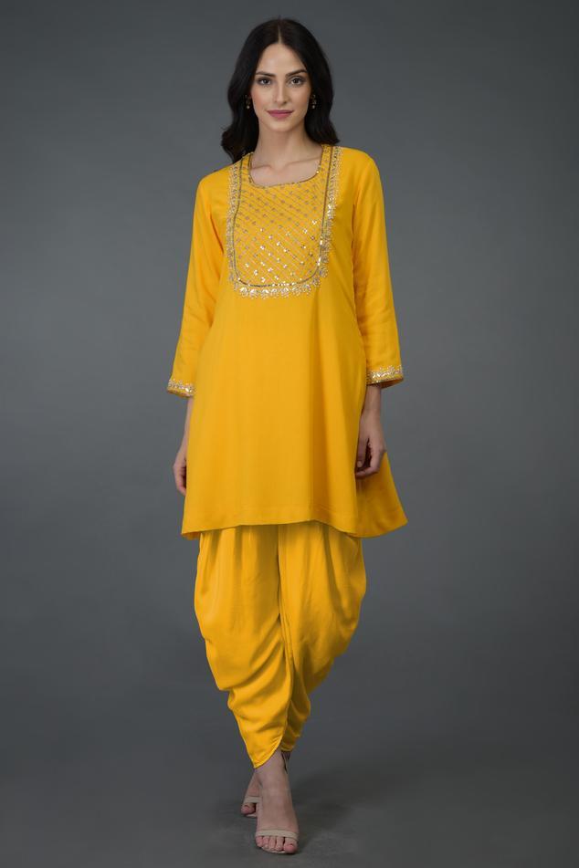 Embellished Kurta Dhoti Pant Set