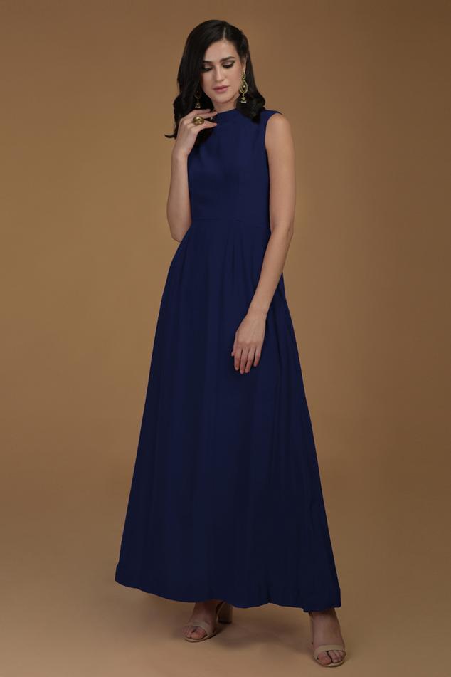 Pure Crepe Silk Maxi Dress