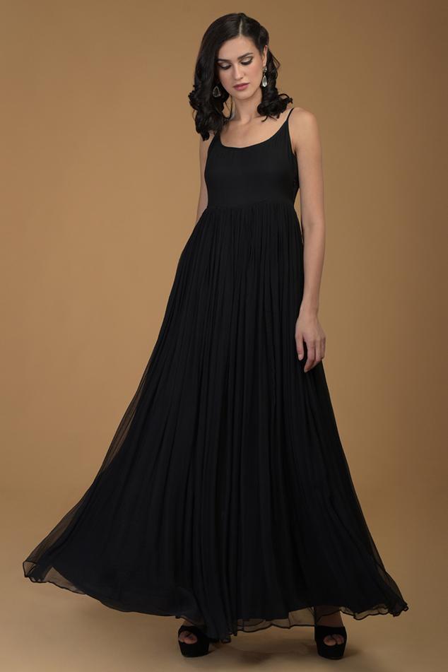 Flared Maxi Dress