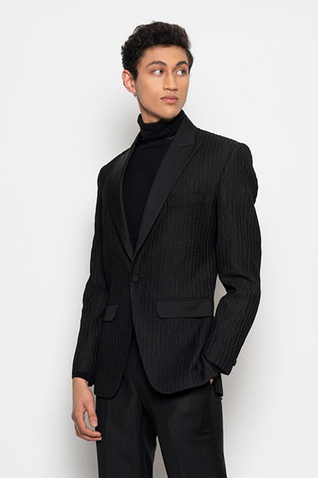 Embroidered Tuxedo & Pant Set