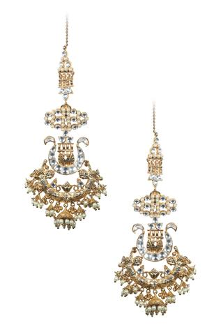 Kundan Jhumka Drop Bead Danglers