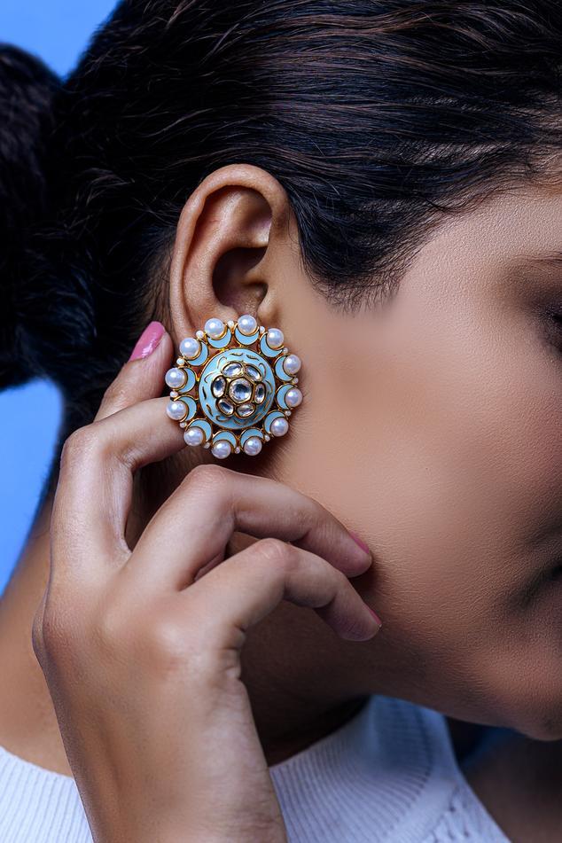 Meenakari Stud Earrings
