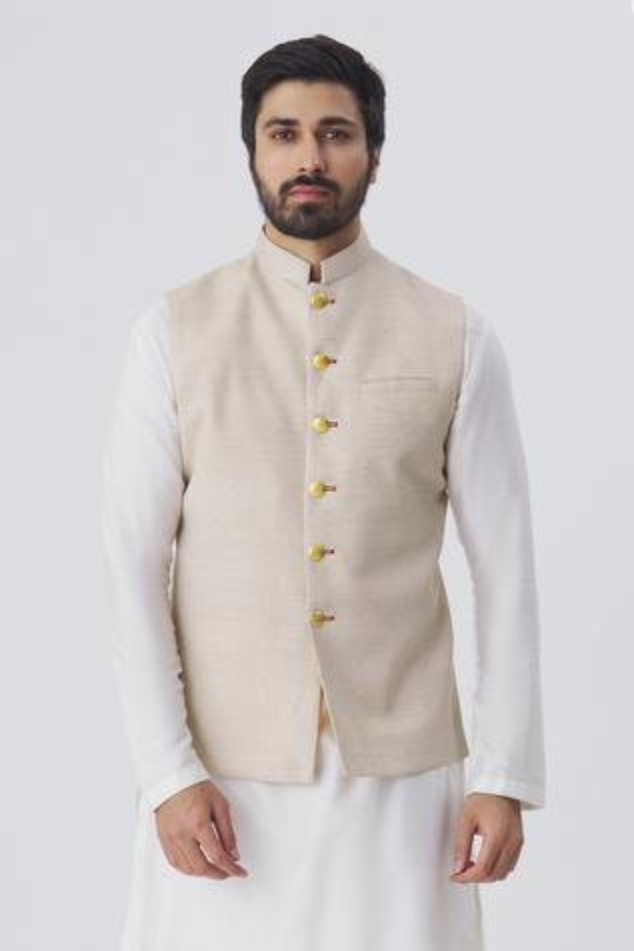 Handloom Silk Nehru Jacket