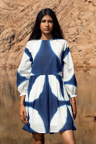 Shibori Dyed Tent Dress