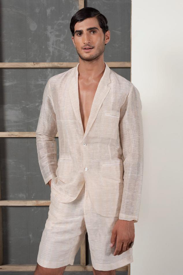 Handwoven Silk Linen Blazer