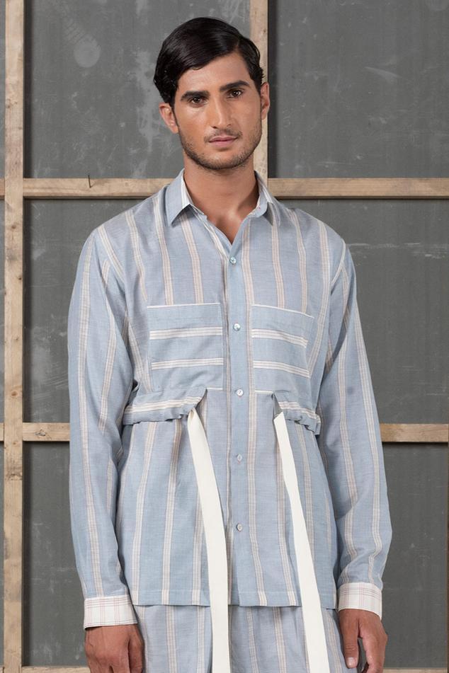 Handwoven Cotton Silk Striped Shirt