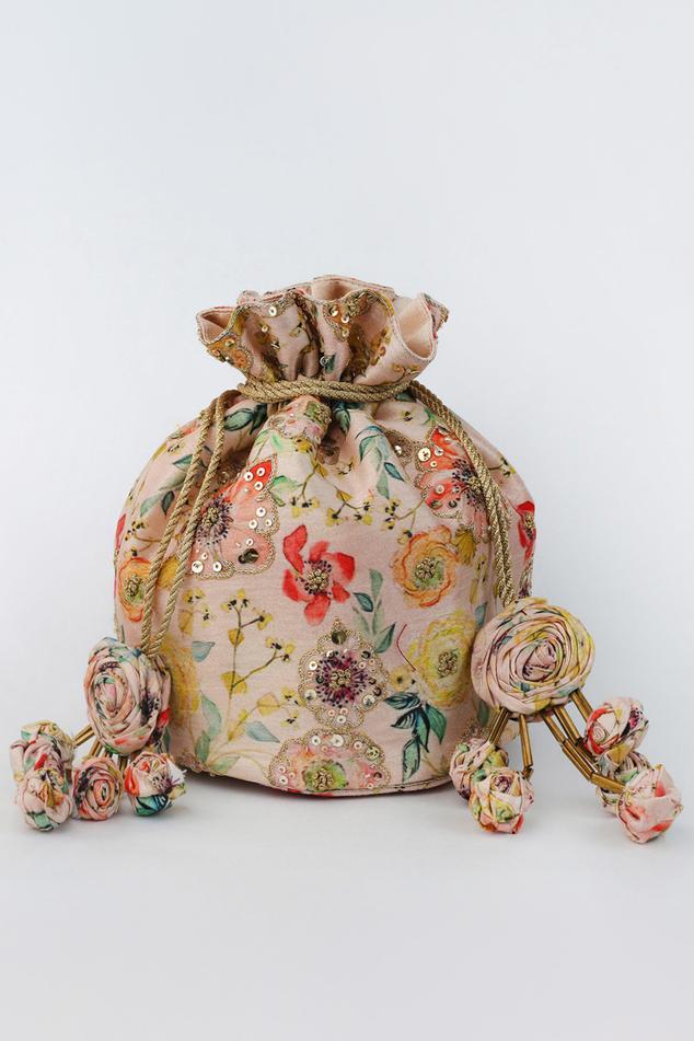 Bagh Floral Print Potli Bag