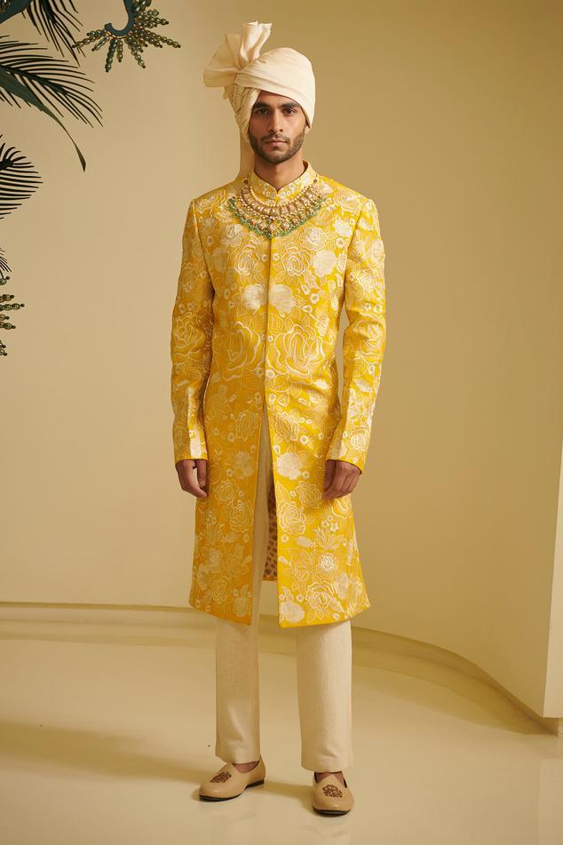 Embroidered Sherwani & Pant Set