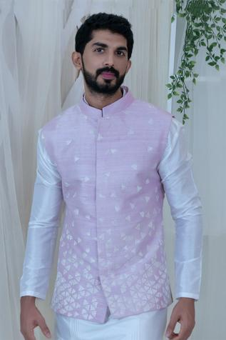 Silk Embroidered Bundi & Kurta Set