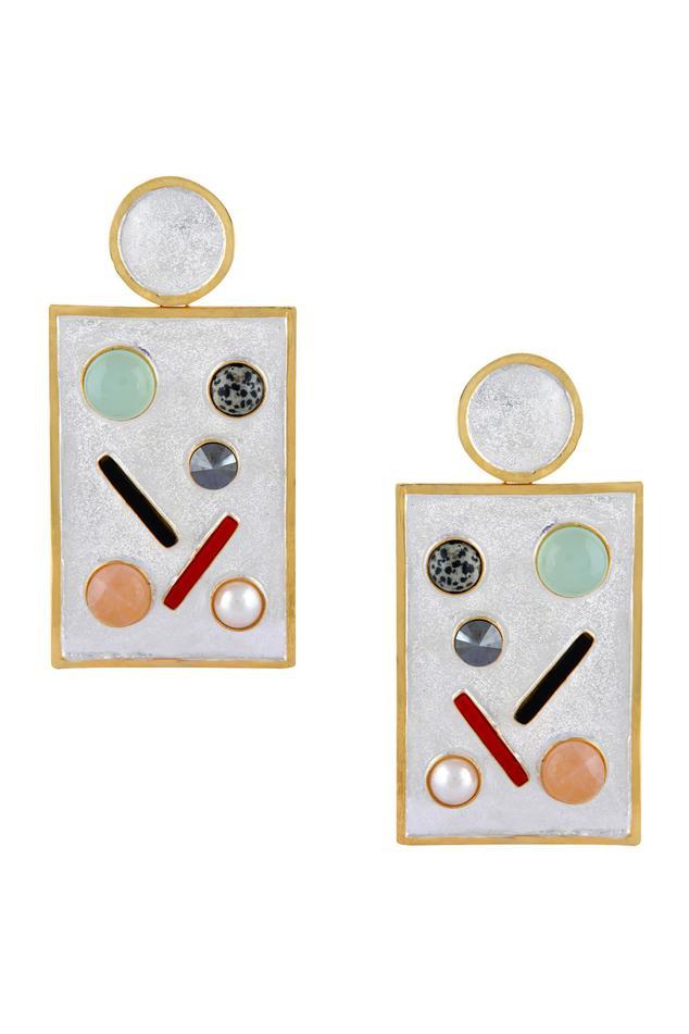 Stone age geometric earrings
