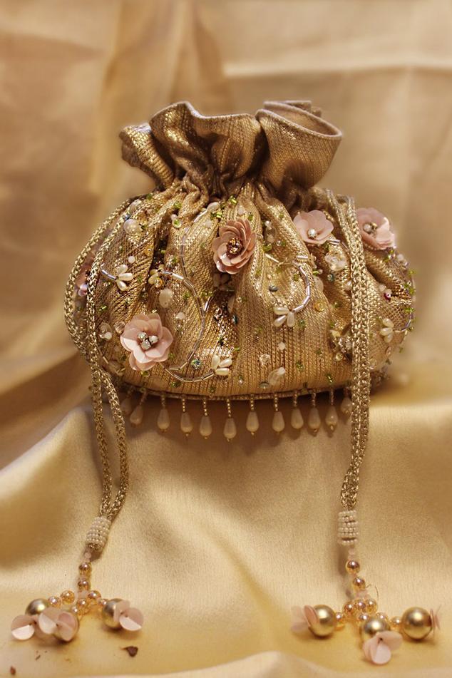 Hand Embroidered Firdaus Potli Bag