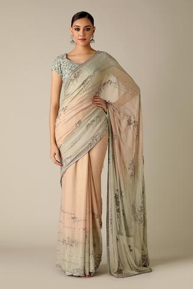 Silk Chiffon Saree with Blouse