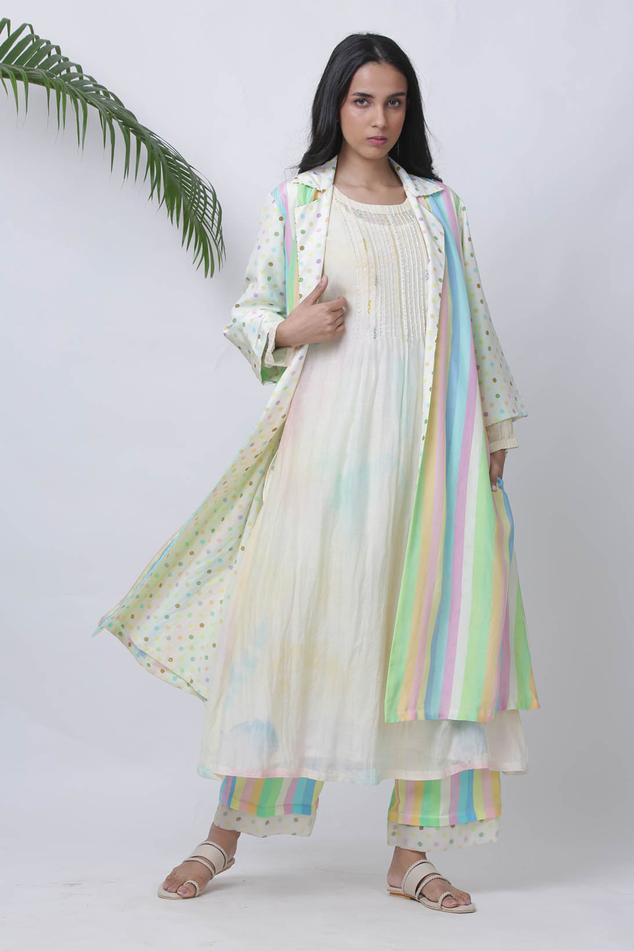 Dhaari Chanderi Silk Striped Jacket