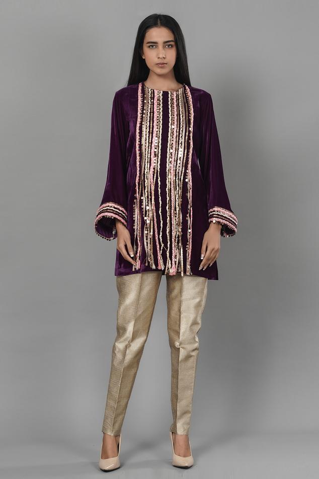 Silk Velvet Tunic & Pant Set