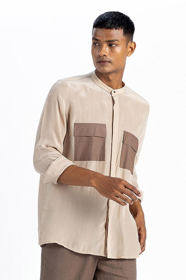 Silk Crepe Shirt with Pant